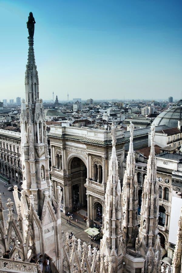Milano city stock photo