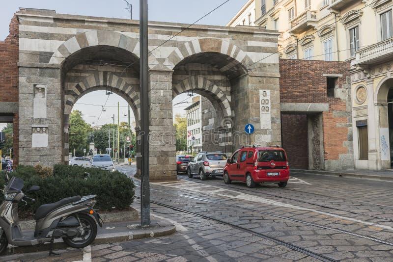 Milano city centre street view stock photography