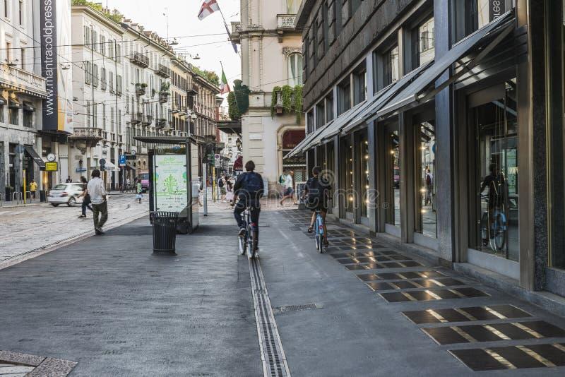 Milano city centre street view stock photo
