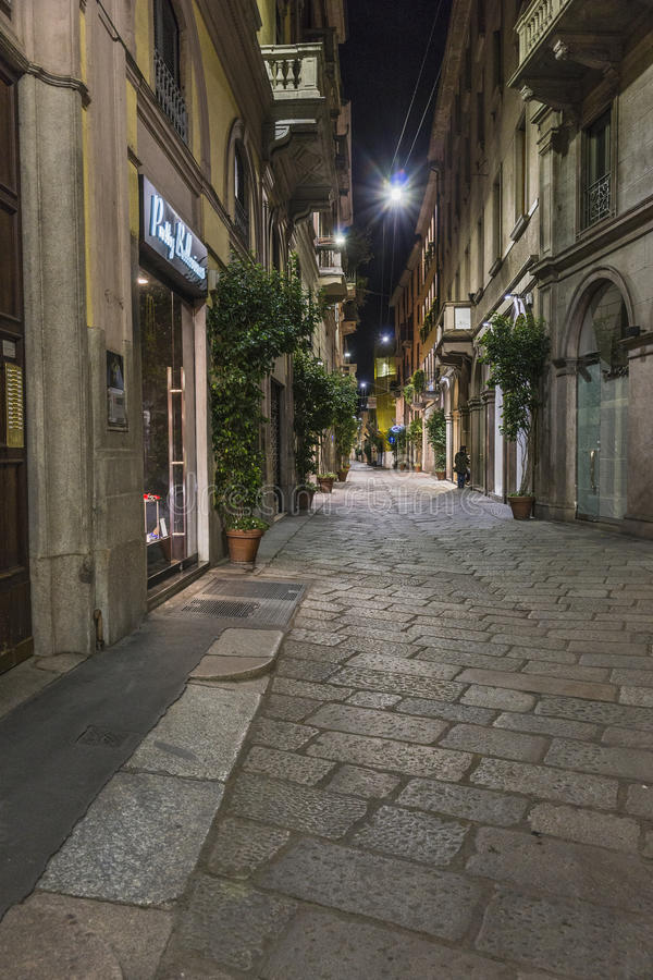 Milano city centre street view stock image