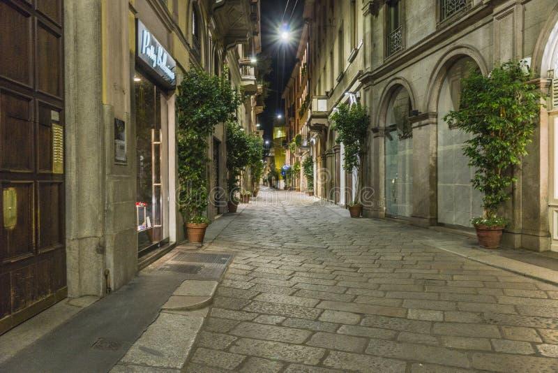 Milano city centre street view stock photos