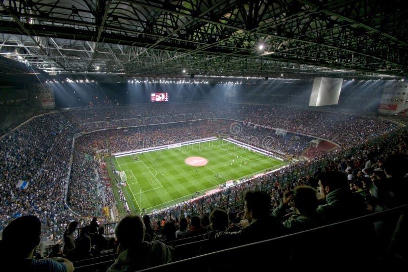 MILANO CONTRA INTER fotos de archivo libres de regalías