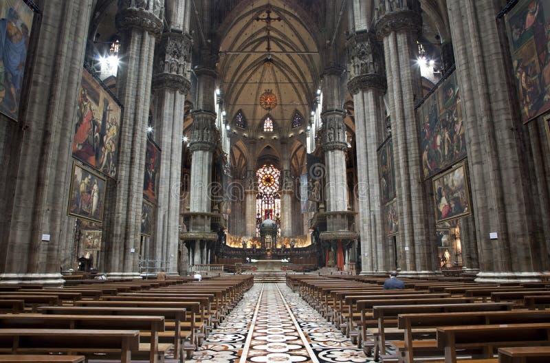 Milano - dell'interno del Duomo immagine stock libera da diritti