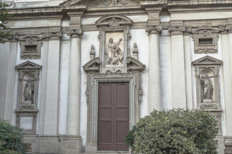 Milano, detalles de San Giuseppe Church imagen de archivo libre de regalías