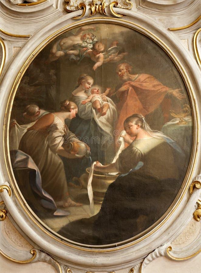 Milano - dolore della nascita del Jesus fotografie stock libere da diritti