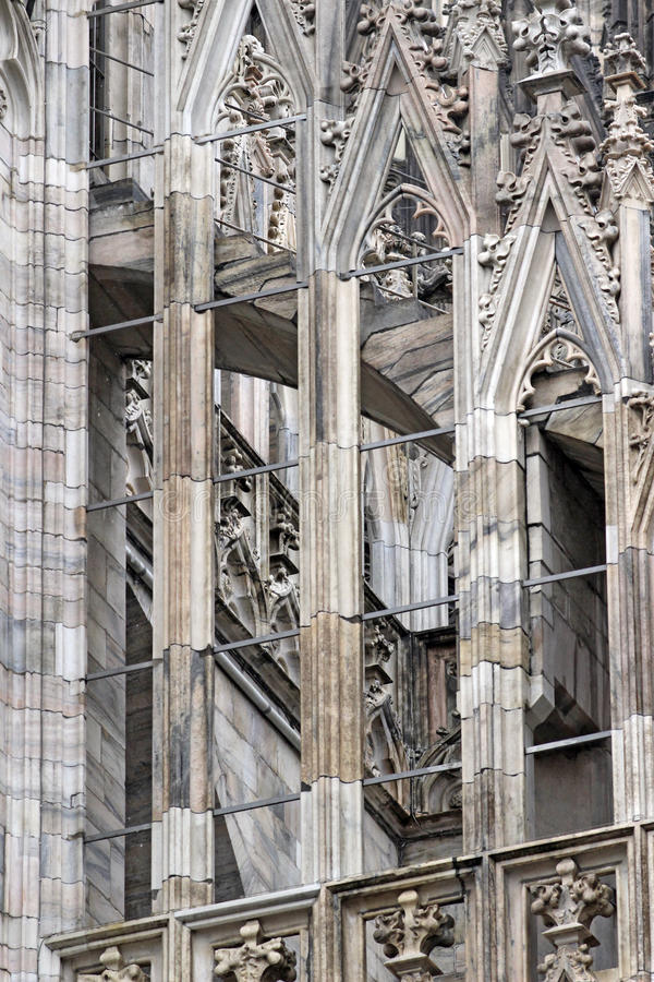 Milano Dome - architecture detail royalty free stock images