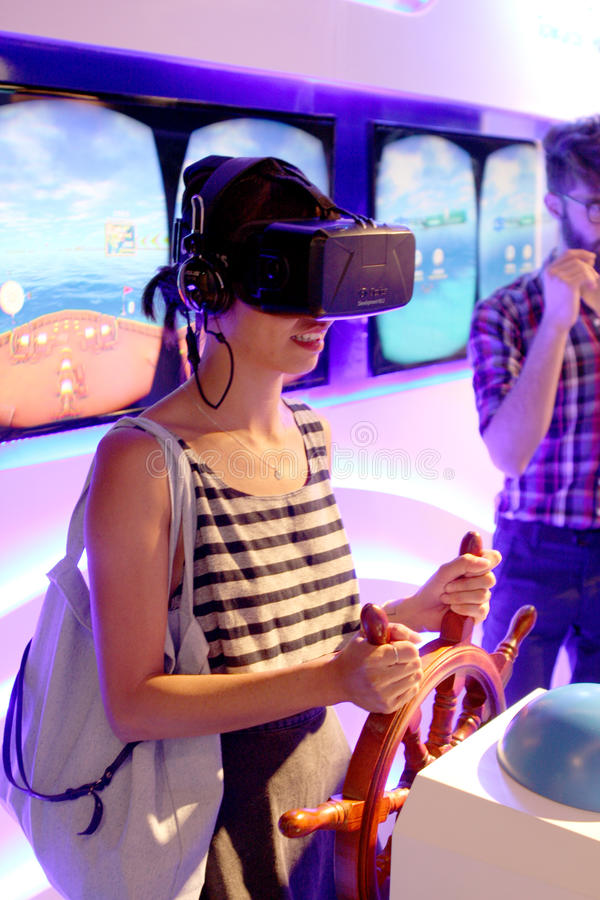 MILANO EXPO 2015. Universal exposition in Milano in 2015. China Corporate United Pavilion Virtual reality stock photos