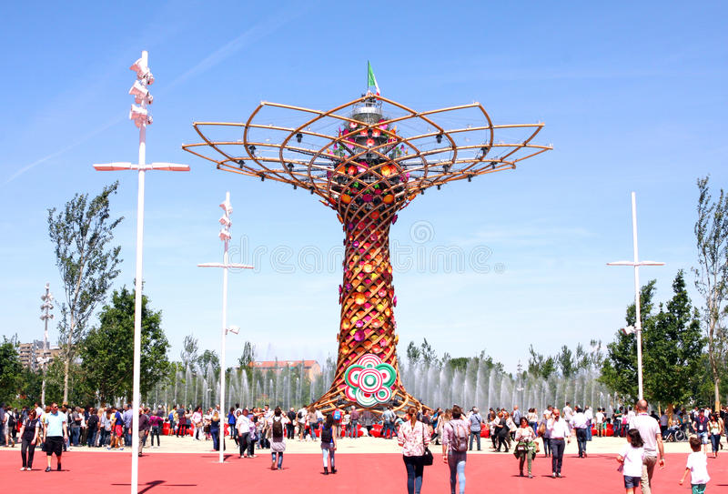 MILANO EXPO 2015. Universal exposition in Milano in 2015. Italia Pavilion stock photo