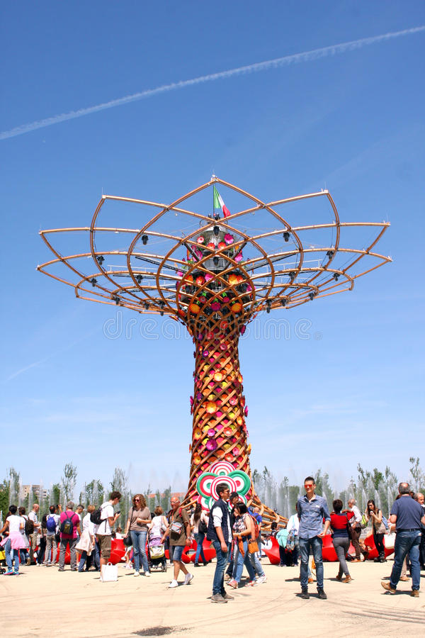 MILANO EXPO 2015. Universal exposition in Milano in 2015. Italia Pavilion royalty free stock images