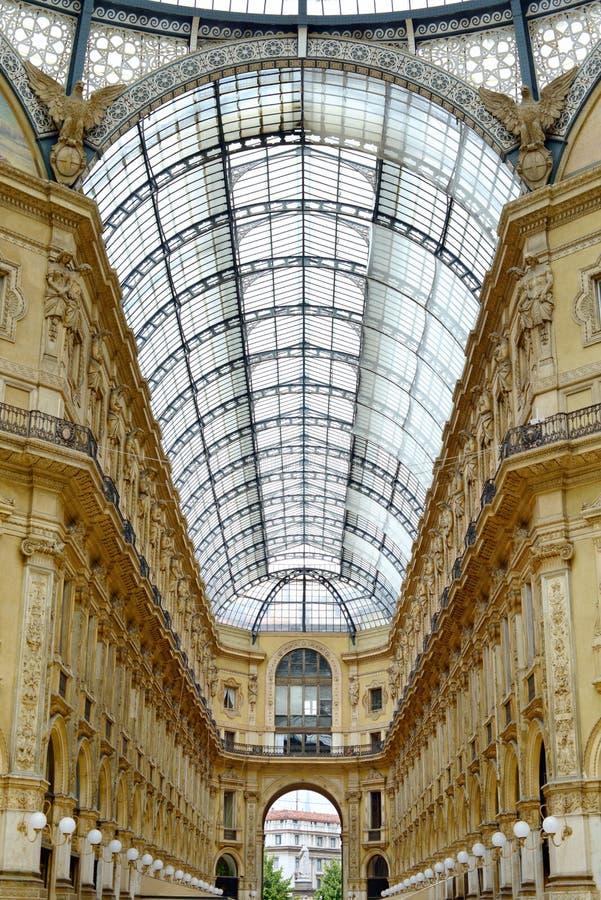 Milano, galería de Vittorio Manuel II, Italia foto de archivo