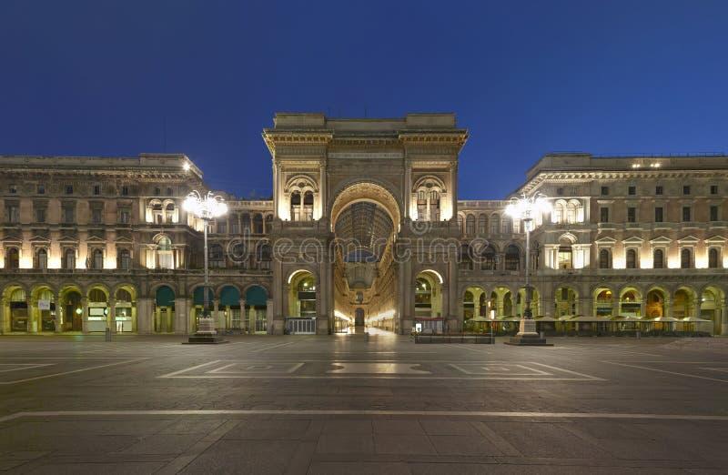 Milano, galleria di Vittorio Emanuele, Italia immagini stock libere da diritti