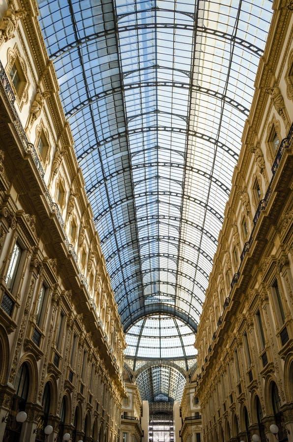 Milano, Galleria Vittorio Emanuele II imagen de archivo libre de regalías
