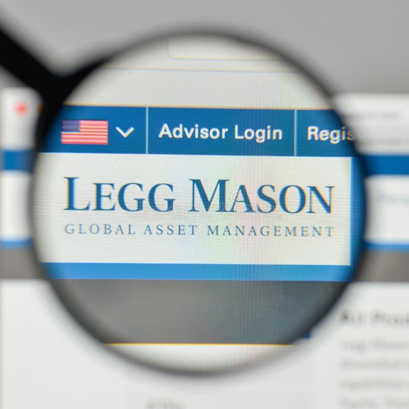 Milano, Italia - 1° novembre 2017: Logo di Legg Mason sul sito Web immagini stock libere da diritti