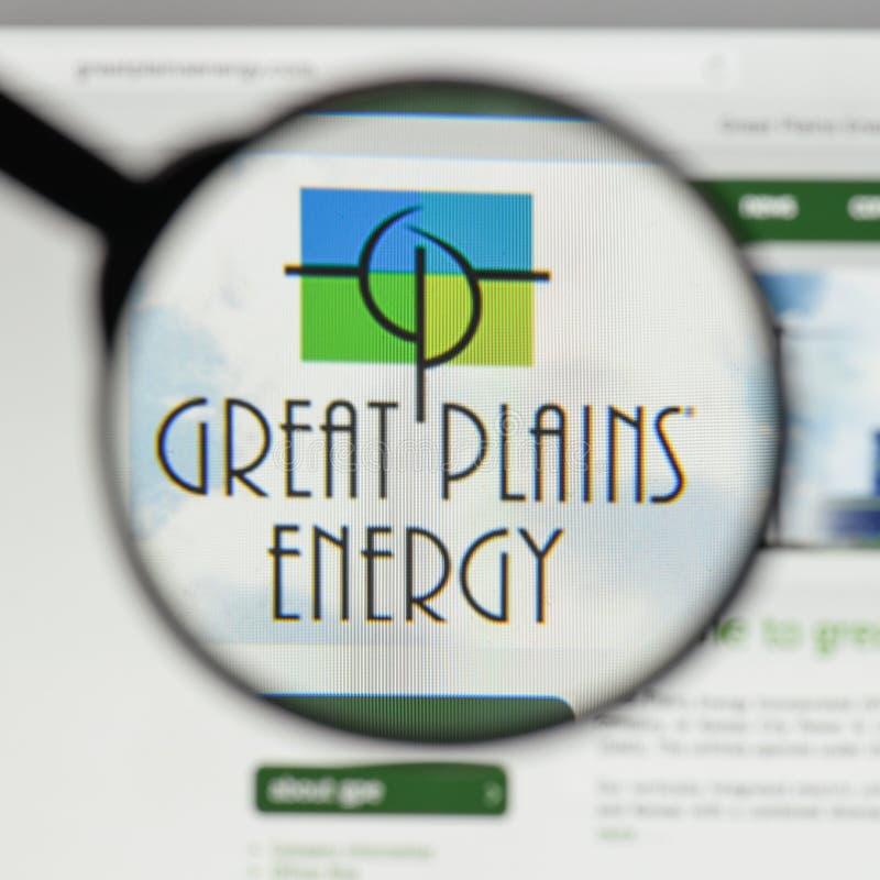 Milano, Italia - 10 agosto 2017: Logo di energia delle Grandi Pianure sul immagine stock