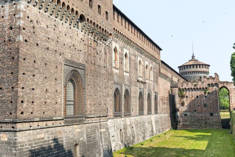 Milano (Italia) - Castello Sforzesco immagine stock