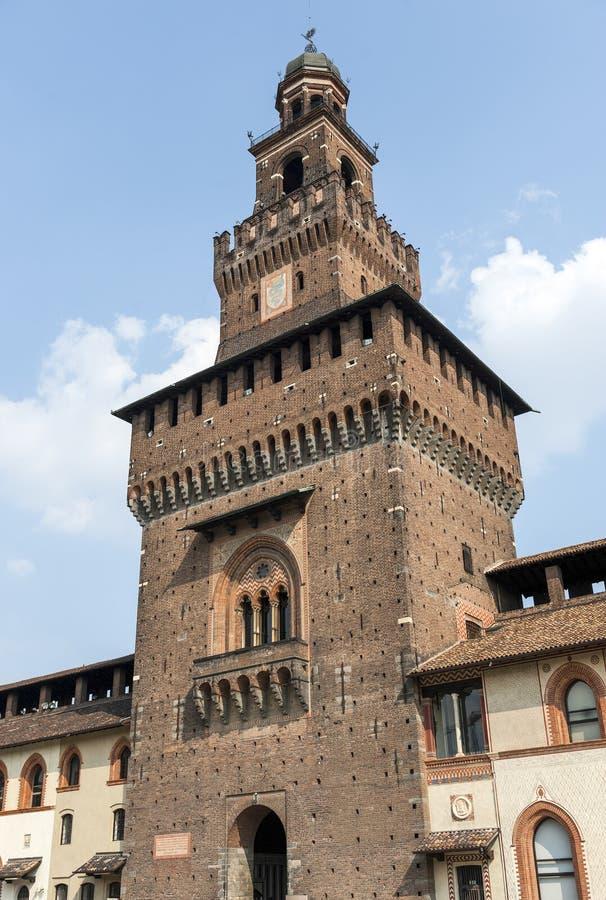 Milano (Italia) - Castello Sforzesco immagini stock