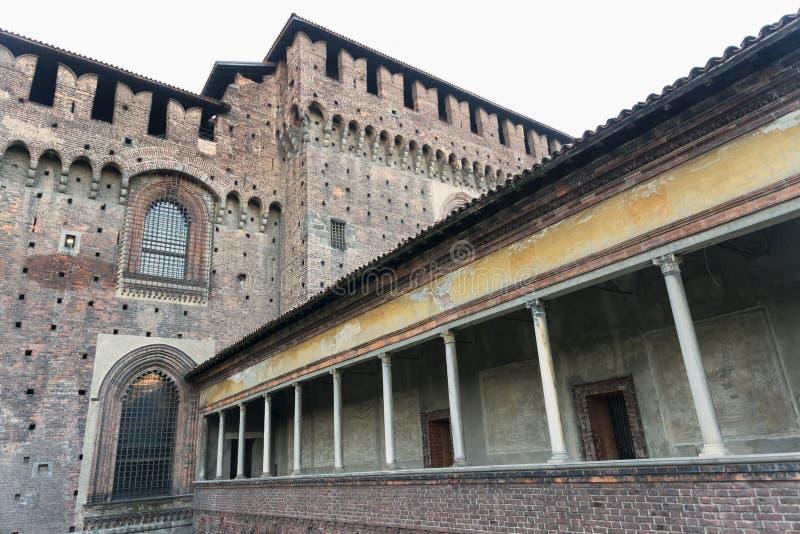 Milano (Italia), Castello Sforzesco fotografia stock
