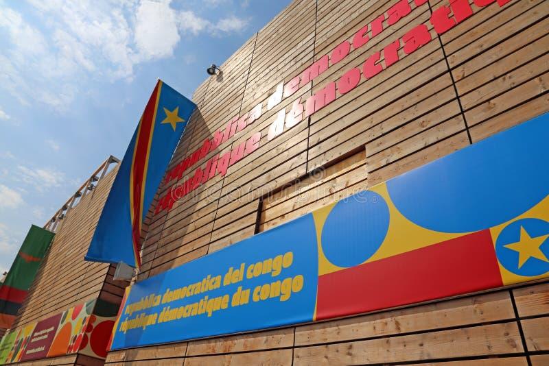 Milano, Italia - 8 settembre 2015 EXPO MILANO Padiglione del Congo fotografia stock libera da diritti