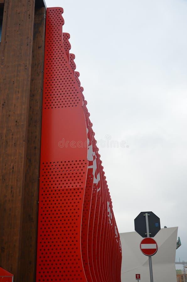 Milano, Italia - 10 04 2015: Supporto della coca-cola nell'Expo fotografia stock