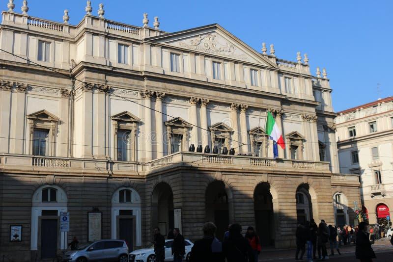 Milano, La Scala immagini stock