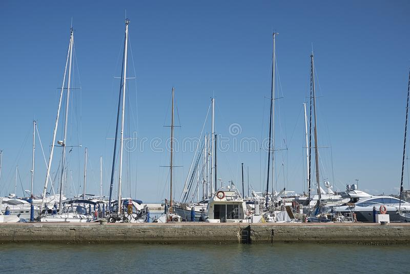 View of Cervia marina royalty free stock photography