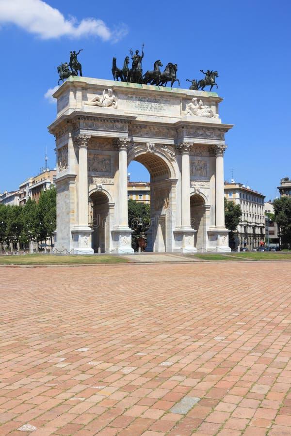 Milano, passo di della del Arco fotografia stock libera da diritti