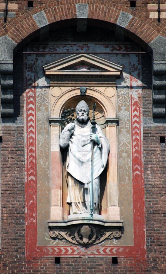 Milano - san Ambrose, Sant'Ambrogio fotografia stock