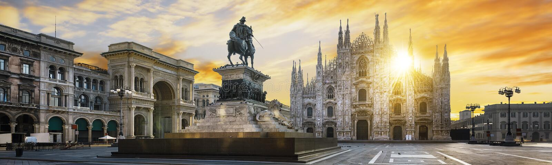 Milano spirit, Italy stock photo
