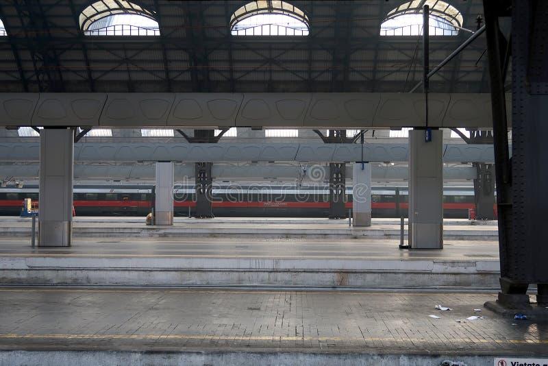 Milano, stazione centrale 12/22/2016 E immagini stock libere da diritti