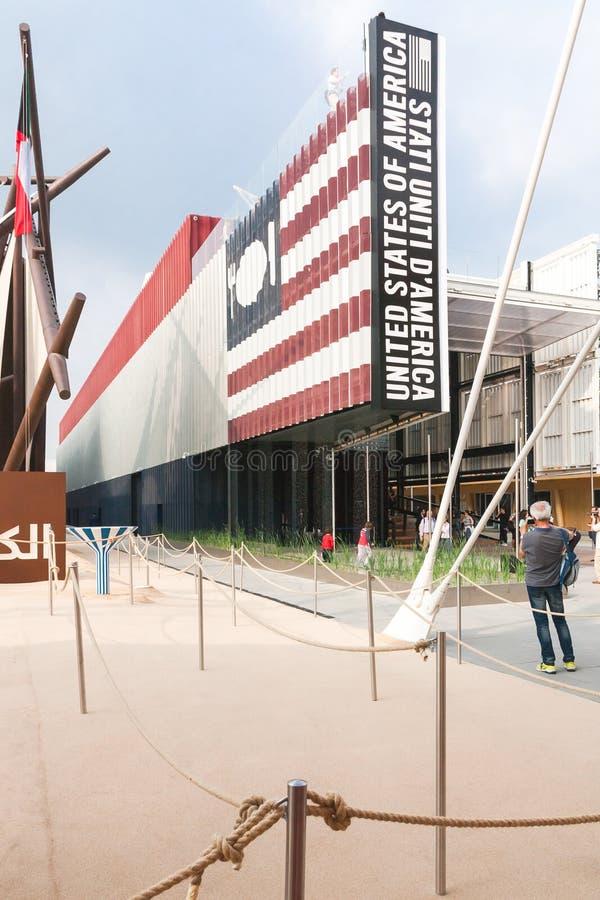 Milano 2015 - USA paviljong royaltyfria foton
