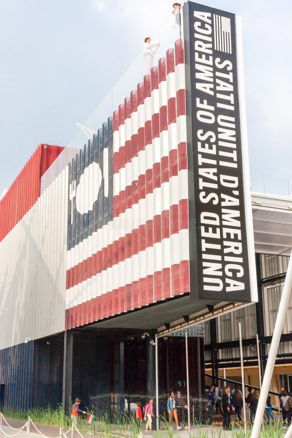 Milano 2015 - USA paviljong royaltyfri foto