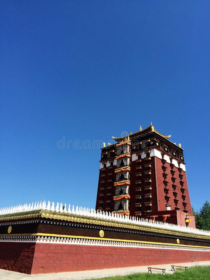 Milarepa Temples. In Hezuo Gansu royalty free stock photo