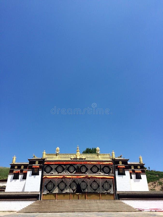 Milarepa Temples. In Hezuo Gansu royalty free stock images