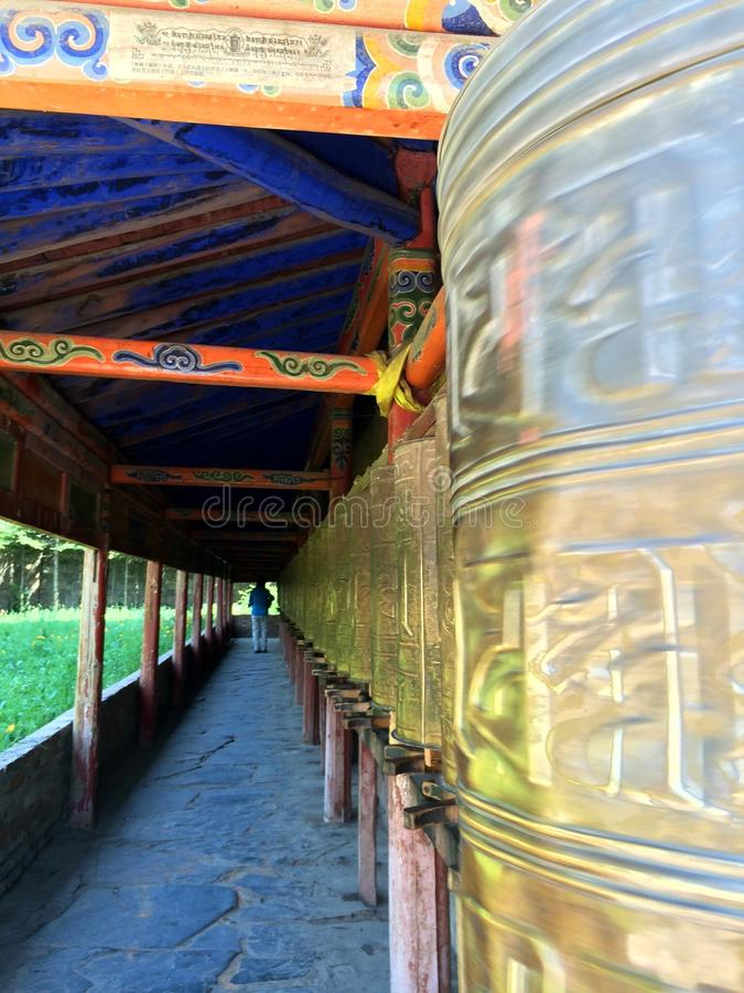 Milarepa Temples. In Hezuo Gansu stock photo