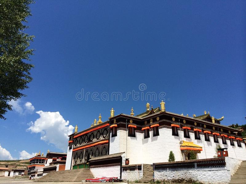 Milarepa Temples. In Hezuo Gansu stock images