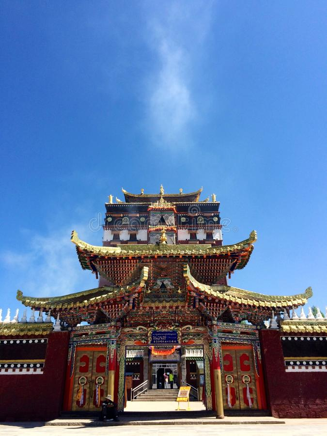 Milarepa Temples. In Hezuo Gansu royalty free stock photos