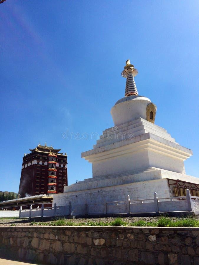 Milarepa Temples. In Hezuo Gansu stock photography