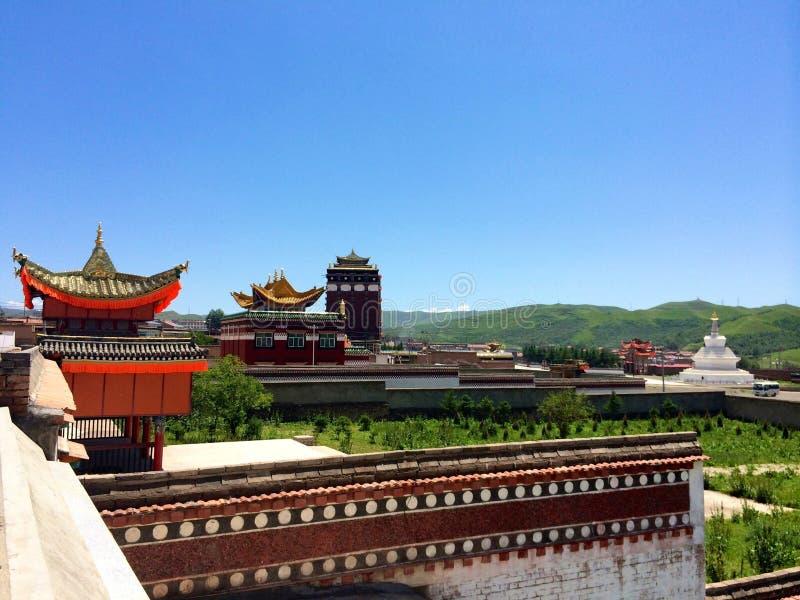 Milarepa Temples. In Hezuo Gansu royalty free stock image