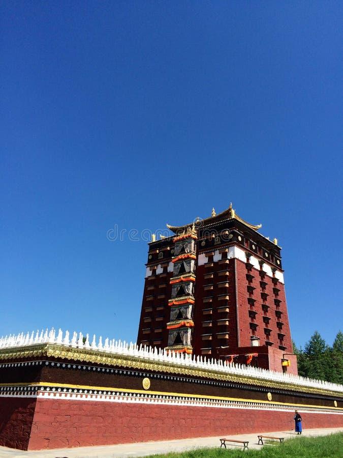 Milarepa Temples. In Hezuo Gansu royalty free stock photography