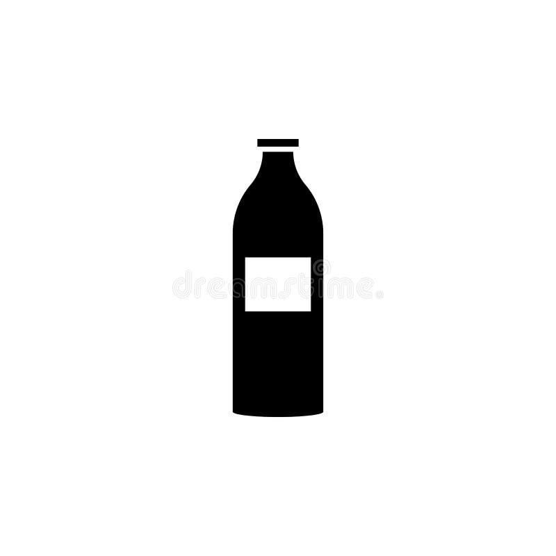 Milch in einer Flaschenikone Element der Marktikone für bewegliche Konzept und Netz apps Ausführliche Milch in einer Flaschenikon lizenzfreie abbildung