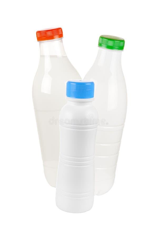 Milch, Kefir, Joghurt lizenzfreie stockfotos