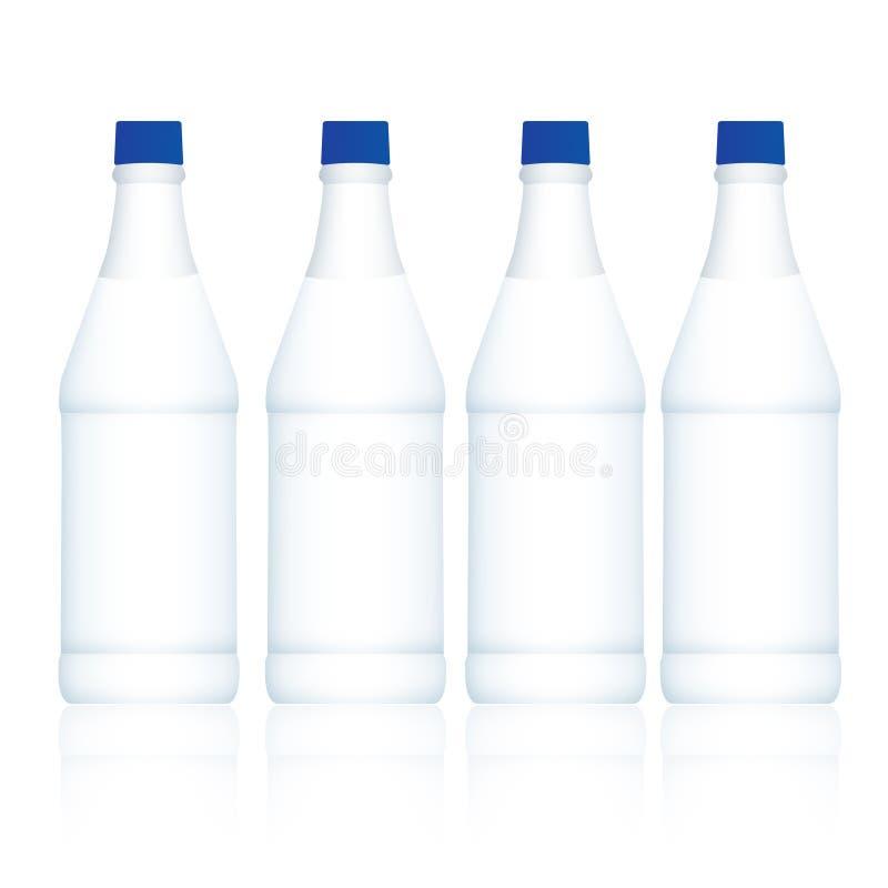 Milchflaschen vektor abbildung