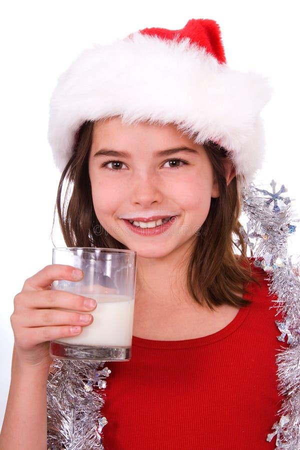 Milchschnurrbart. stockfoto