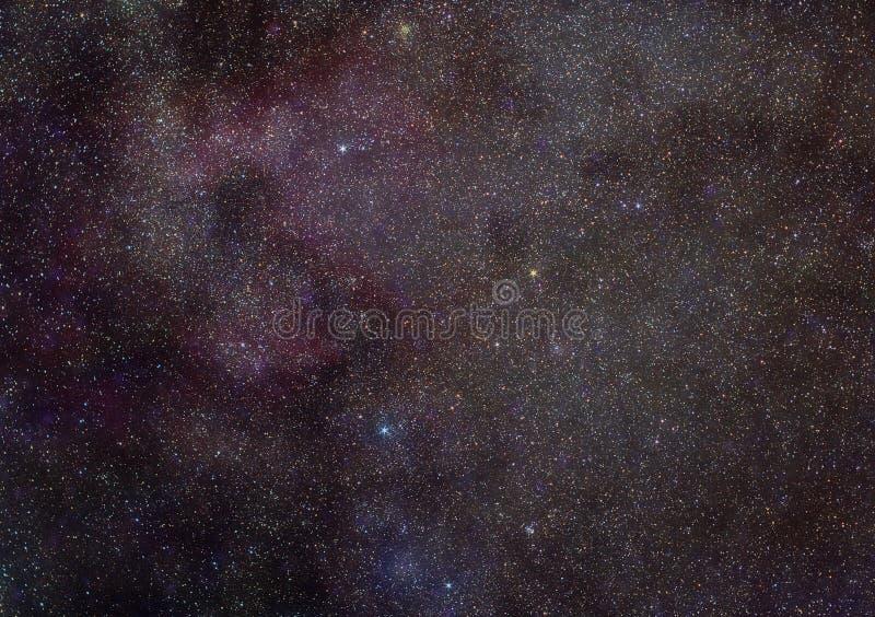 Milchstraße in der Cassiopeiakonstellation vektor abbildung
