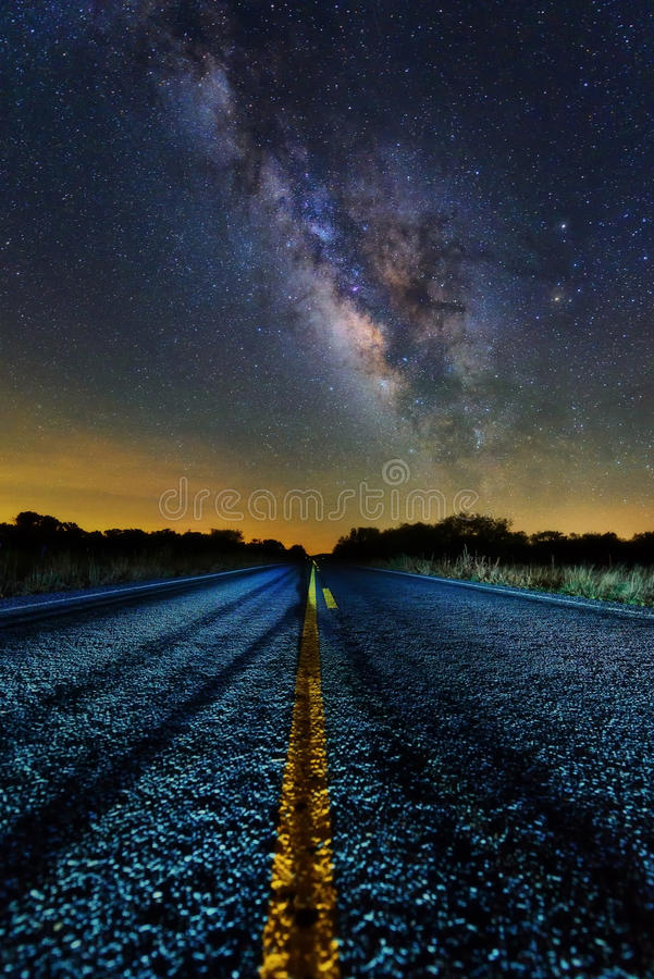 Milchstraße gemäßigt stockfoto