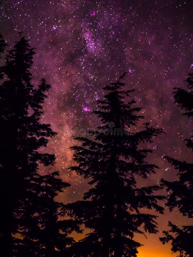 Milchstraße und Sterne lizenzfreie stockfotografie