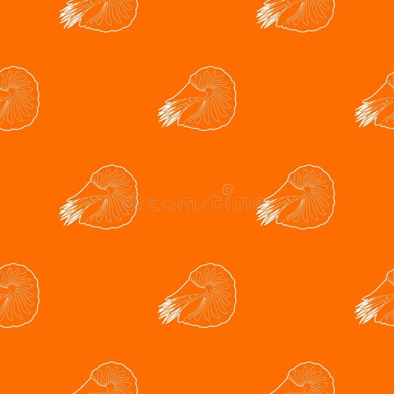 Milczek deseniowa wektorowa pomarańcze ilustracji