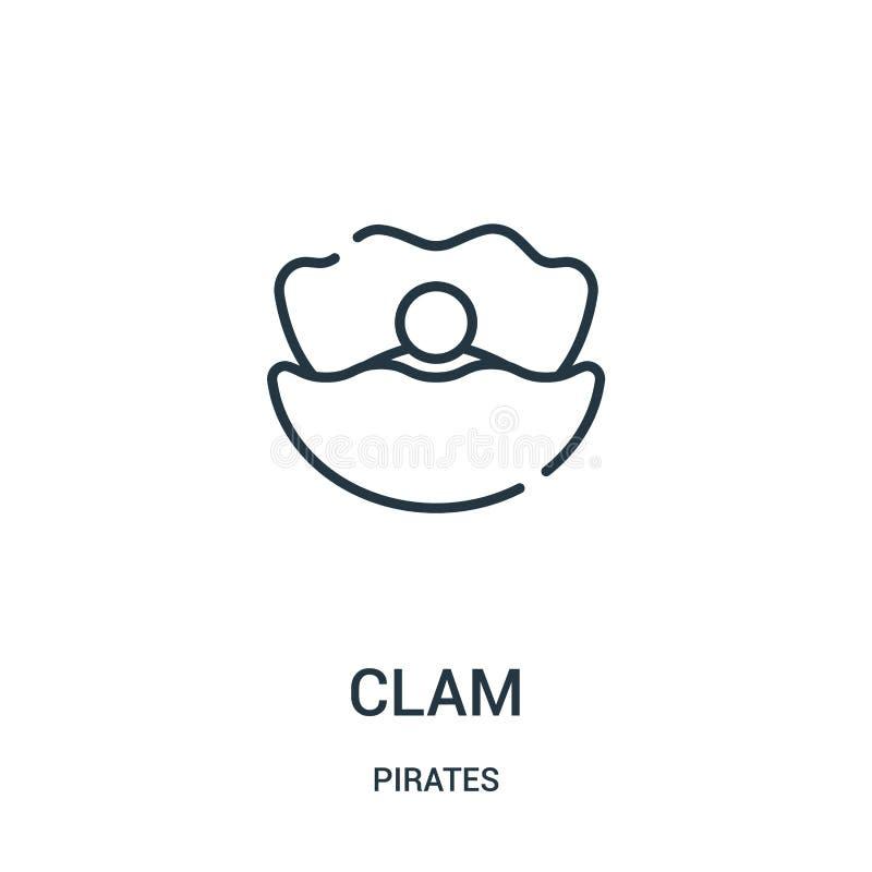 milczek ikony wektor od piratów inkasowych Cienka kreskowa milczka konturu ikony wektoru ilustracja Liniowy symbol dla używa na s ilustracji