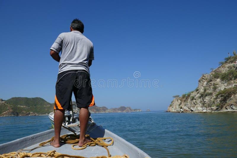 Milczek w morzu zdjęcia stock
