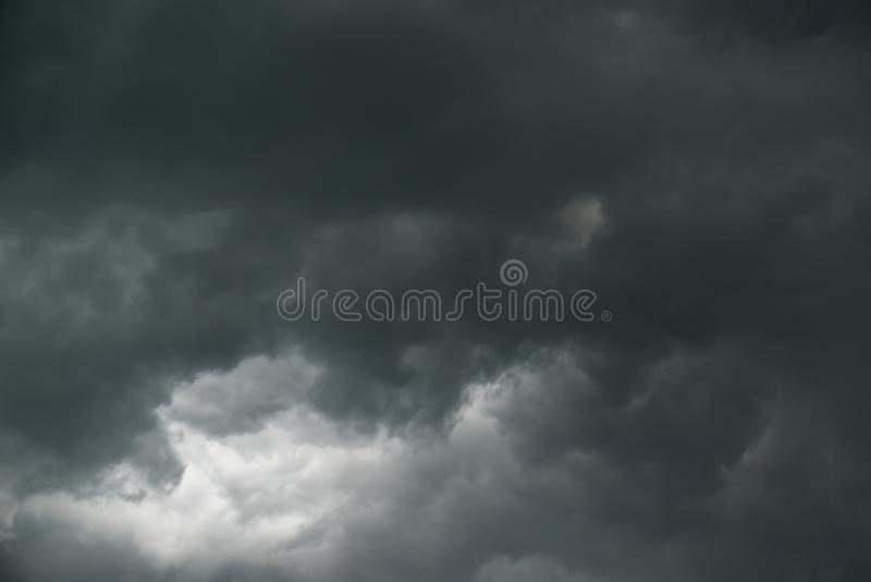 Mild dark cloudy sky 2. Mild dark cloudy sky thunderstorm time grey color royalty free stock photo